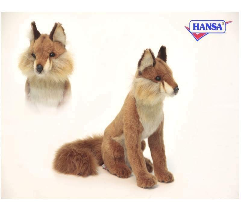 Renard assis 30 cm animal en peluche HANSA toy 6098