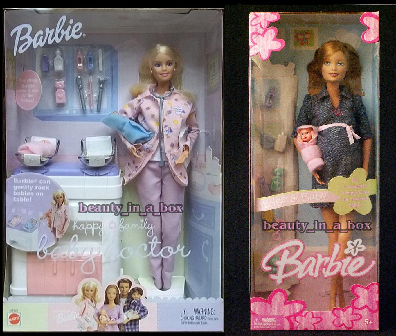 Cecidomia del embarazadas muñeca Barbie y bebé Bump feliz médico de familia  Moda Denim