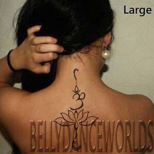 1 set of 3 om lotus flower tribal temporary tattoo arm leg body art image is loading 1 set of 3 om lotus flower tribal mightylinksfo