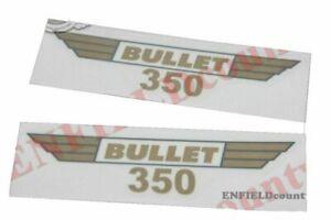 Fits-Royal-Enfield-350-Script-Tool-Box-Mudguard-Tank-Sticker-Set-Golden-AUD
