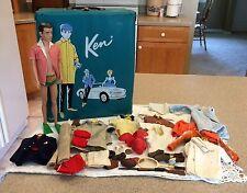 Vintage 1960's Ken Doll Ken Clothes & Accessories W/Case Barbie's Boyfriend