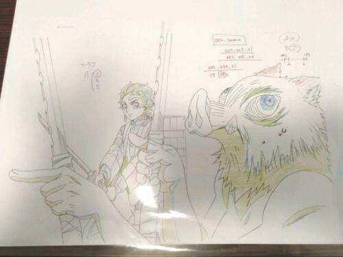 Kimetsu no Yaiba ANIME Genga inosuke tanjiro JAPAN TV Animation Demon Slayer