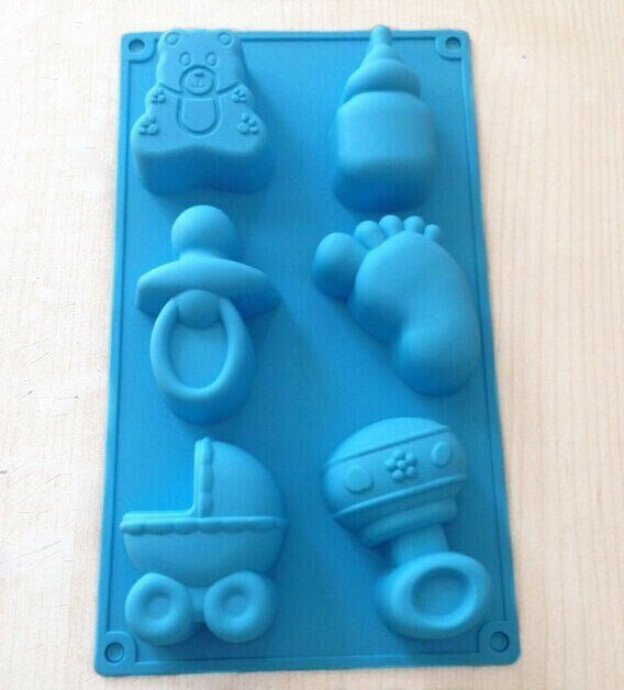 Cake Mold Baby Bottle Carriage Flexible Silicone Mould For Candy Ice lattice ice