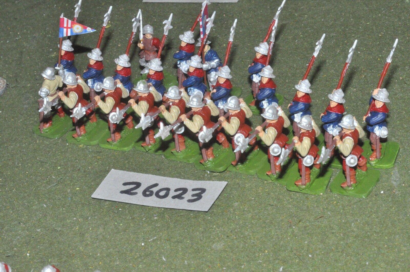 25mm medieval inglés-billmen 24 figuras-INF (26023)