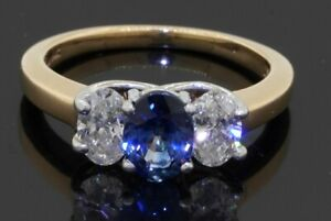 Magic-Glo-Platinum-14K-gold-1-75CTW-diamond-7-X-5mm-Blue-sapphire-cocktail-ring
