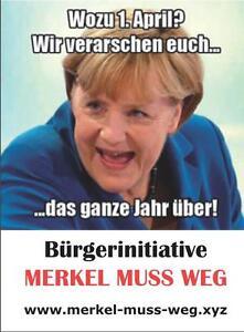 50x-Aufkleber-034-1-April-Merkel-muss-weg-034-Anti-Merkel-Nein-Danke-AfD-Pegida