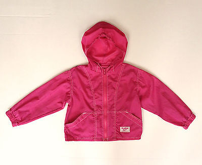Vintage 80's OshKosh B'gosh Girls Windbreaker Jacket Coat Built In Backpack 5 6