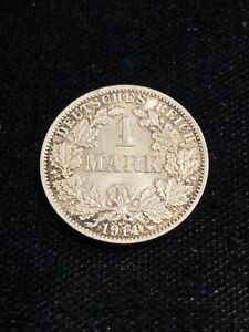 Raw 1914-A Germany 1 Mark BU UNC Nice