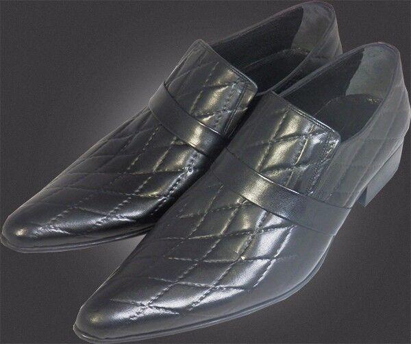 O.G Chelsy - Italiana Diseñador Slipper Estampado de Cuadros Negro Hecho a Mano