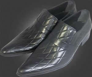 44 Chelsy O Handmade g Plaid Slipper Italian Black Pattern Designer TcaFcAWU