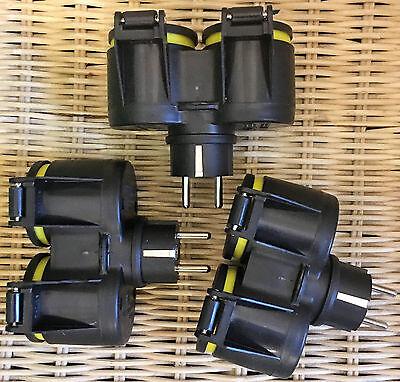 # Mehrfachsteckdose für LED Lichterkette,3x 2er Steckdose Adapter EU Schuko Z GG