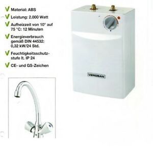 verosan 5 liter untertisch boiler warmwasserspeicher mit. Black Bedroom Furniture Sets. Home Design Ideas
