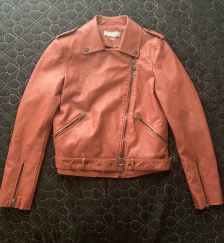 Bagatelle Brown Leather Jacket Shell Coating Small