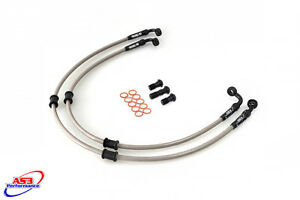 KAWASAKI ZX10R ZX 10 R 2008-10 AS3 VENHILL BRAIDED FRONT BRAKE LINES HOSES RACE Motorcycle Brakes & Brake Parts
