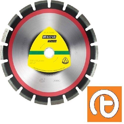 Klingspor DT612AB 350mm x 25.4mm Supra Diamond Blade for Asphalt/Concrete