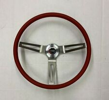 Comfort Grip Steering Wheel Kit Red Cushion 3 Spoke Camaro Chevelle Nova Elcam