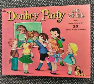 Vintage-1952-DONKEY-PARTY-Game-Including-25-Party-Games-to-Play-Whitman-Complete