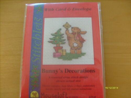 Mouseloft carte stitchlet Noël avec Enveloppe /&