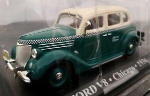 1-43-FORD-V8-TAXI-CHICAGO-1936-COCHE-DE-METAL-A-ESCALA