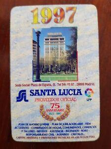 Santa Lucia Calendario.Detalles De Calendario Seguros Santa Lucia 1997 Heraclio Fournier