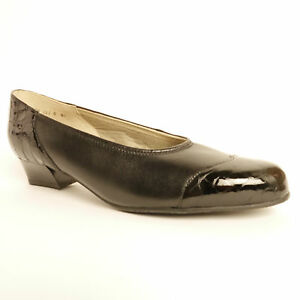 Equity-Felicity-Low-Heel-Black-Croc-Court-Shoe-E-Wide-Fitting-RRP-64-99