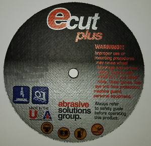 """ECUT PLUS 76428 TYPE 1 CUTTING WHEEL 4/"""" X 1//16/"""" X 3//8/"""" CUTOFF WHEEL BOX OF 50"""