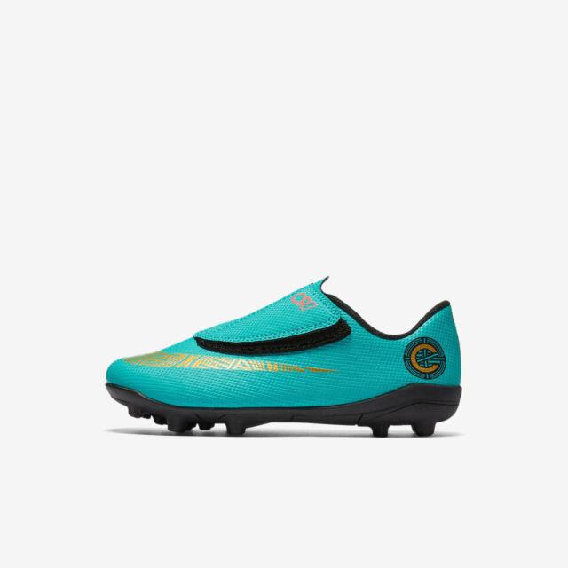 super popular b5230 66710 Nike Little Kids' JR VAPOR 12 CLUB CR7 MG PS Soccer Shoes Jade/Gold  AJ3096-390 c