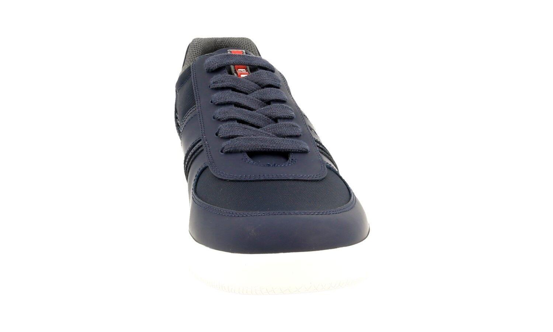LUXUS PRADA SNEAKER SNEAKER SNEAKER Zapatos 4E3026 BLAU VITELLO RUBBER NEU NEW 9 43 43,5 c9aba0