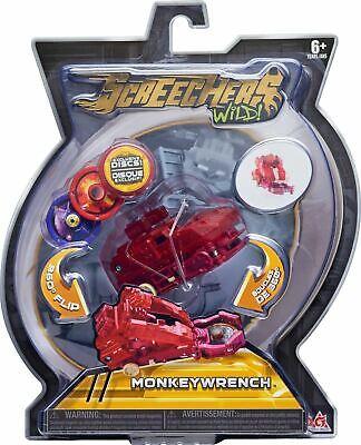 Screechers Wild Monkeywrench Level 2 Kippen Verwandlung Spielzeug Auto Spielset
