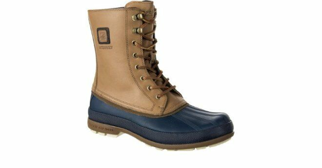 BRAND NEW SPERRY TOP-SIDER COLD BAY RAIN/SNOW BOOTS NAVY/TAN SZ 7.5 M
