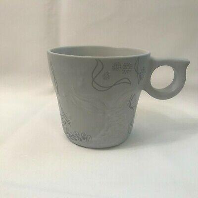 Starbucks 2016 Coffee Mug Cup 12oz Embossed Mermaid Siren Tail Anniversary