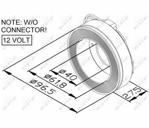 NRF Coil magnetic-clutch compressor 38447