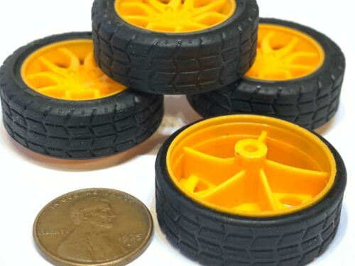 4 Pieces Small toy 30MM Diameter 2mm shaft Car Robot Tire Wheel DC 4pcs C20