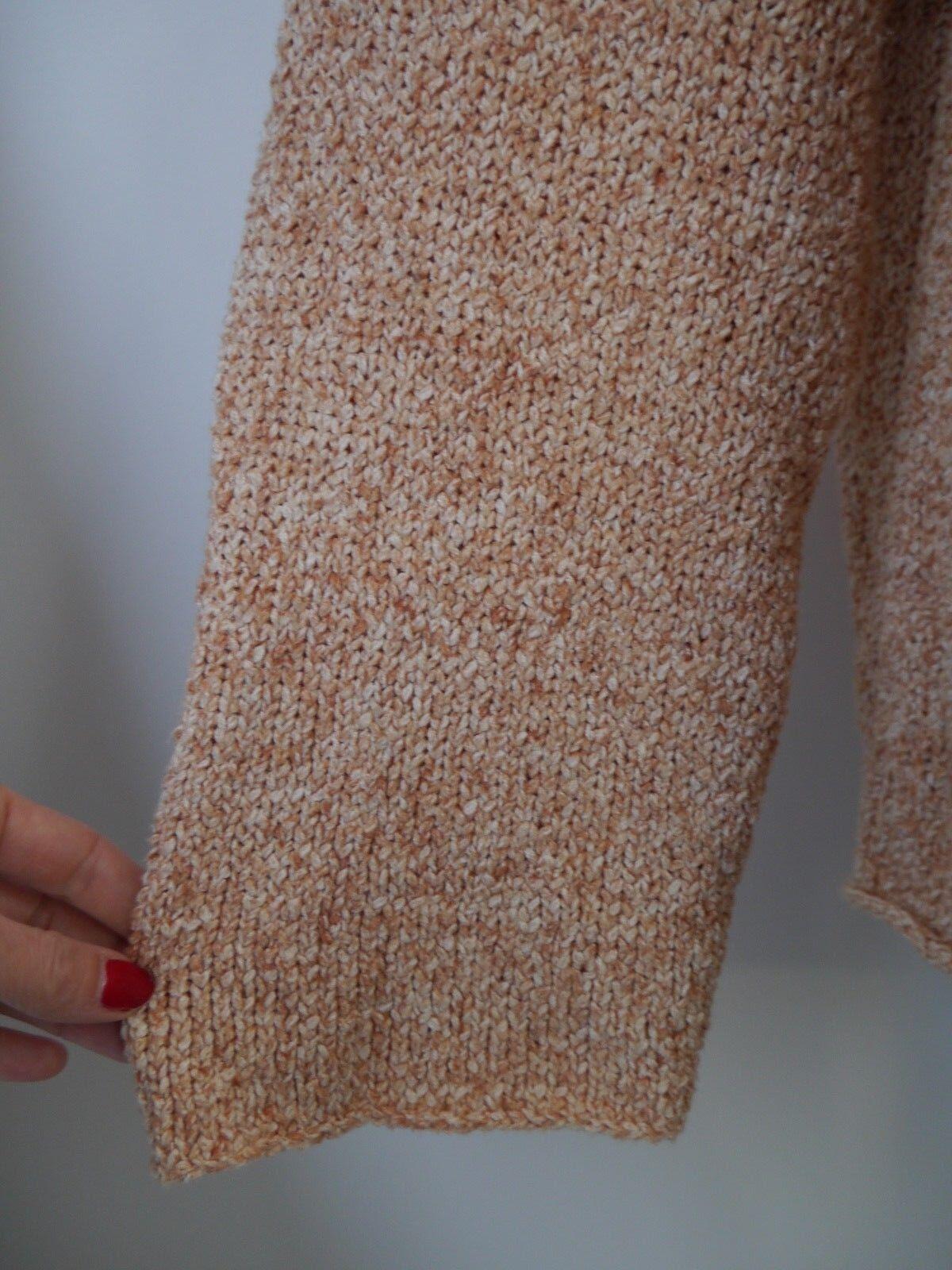 ESKANDAR cotton blend knit open drape drape drape front cardigan sweater one size 00f1e0