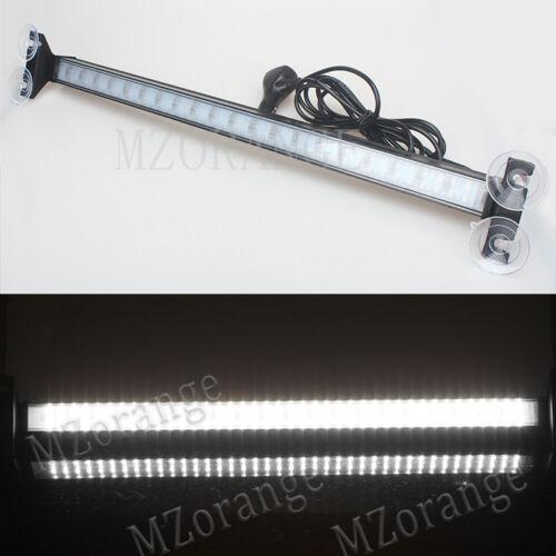 1 Car Windshield 80 LED Strobe Light Flowing Scaning Flash Signal Emergency Lamp