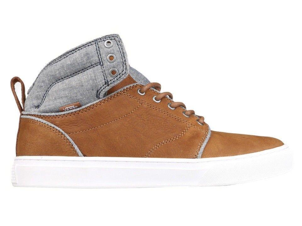 Vans Marrón/Blanco Alomar (tops) Cuero Marrón/Blanco Vans para Hombre Zapatos de Skate c68aba