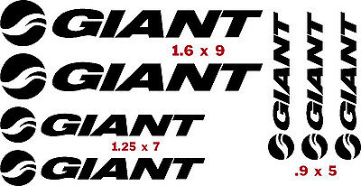 GIANT BIKES  FACTORY   VINYL CUT DECALS $11.98  FREE SHIPPING  CHOOSE COLOR 7