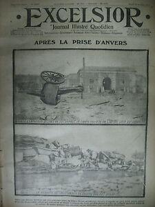 WW1-N-1437-ANVERS-EXODE-OSTENDE-BATAILLE-DE-L-039-AISNE-JOURNAL-EXCELSIOR-1914