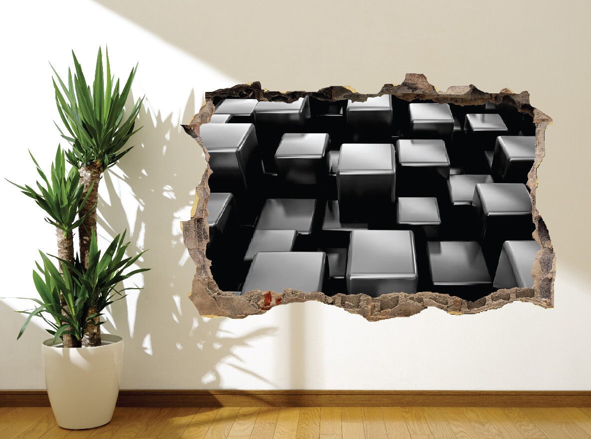 Awesome Acier Cubes 3D Illusion Optique Autocollant Mural Décoration (31603187) (31603187) (31603187) | Le Moins Cher  bb055d