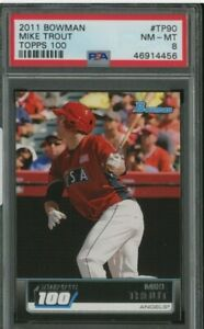 2011-Bowman-Topps-100-Mike-Trout-Angels-RC-Rookie-PSA-8-NM-MT