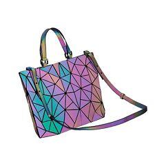 e59557e14b07 Harlermoon Geometric Luminous Purse and Handbag for Women Large Tote Bag  Bags