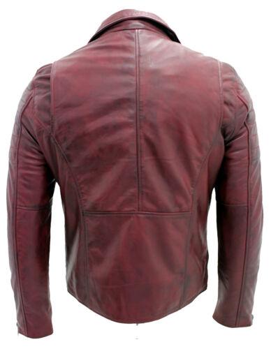 Uomo Brando Burgundy Slim Zip Croce Doppio 100 Stile rRrFEqBwx