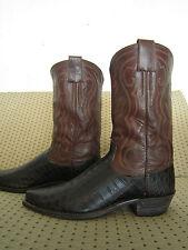 So Rare!! Vintage Custom HYER Alligator Cowboy Boots !! sz men's 9.5 to 10