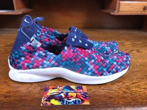 Details about Nike Air Woven Premium (898028 400) Binary Blue White Green Abyss Mens Size 11