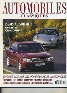 AUTOMOBILES-CLASSIQUES-n-95-12-1998-PORSCHE-CARRERA4-MERCEDES-S500-CHRYSLER-GHIA