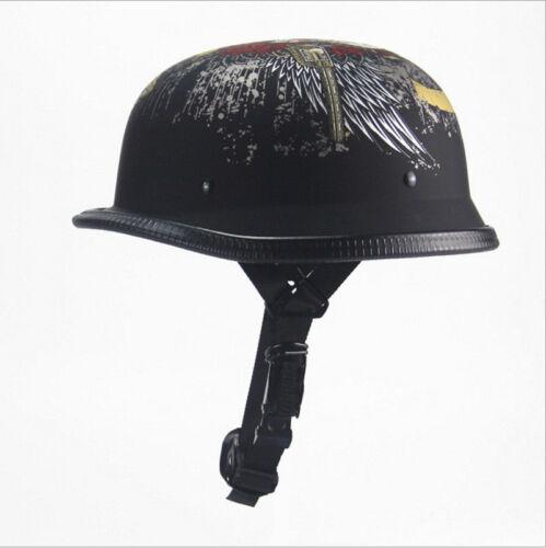 Germany WWII Helmet Skull EE Helmet Motorcycle DOT Unique Half Helmet