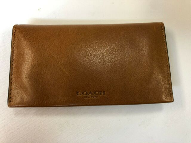 72c490f72c71d Coach Mens iPhone 6 Case Phone Card Sport Calf Leather Wallet Saddle 63646