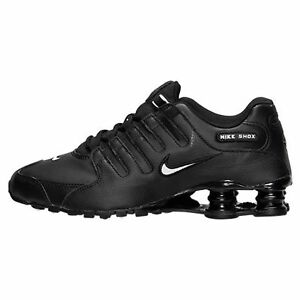 e3e69d823cc7d5 Image is loading Mens-Nike-Shox-NZ-Premium-Sneakers-New-Black-