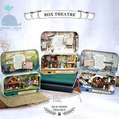 Diy artisanat miniature projet kit maison de poupées la forêt rhapsody tin box