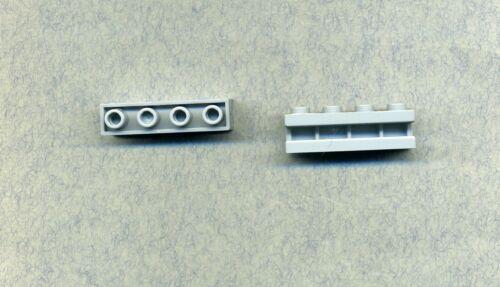 2 Stück Grau//MDStone 1 x 4 Mit Nut und Führungsschiene Lego--2653